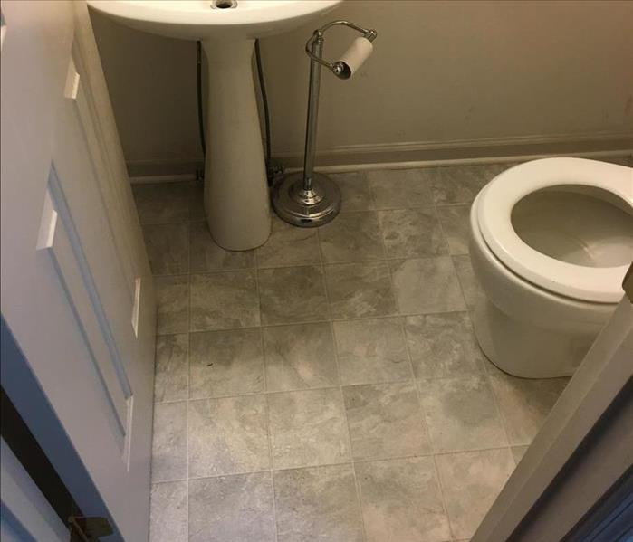 Water Damaged Bathroom in Springfield, TN After