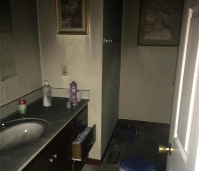 Smoke Damaged Bathroom in Springfield