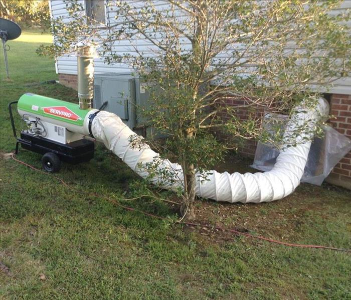 Drying a Crawl Space with a Heat Wagon in Dickson